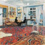 bavardage dans le salon (Monsieur et madame Arthur Fontaine)