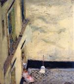 Broom in the Yard at 346 Rue Saint-Honore