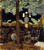 Cafe in the Bois de Boulogne at Night - The Garden of the Alcazar