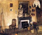 Madame Vuillard Lighting the Stove