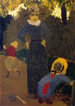 In the Public Garden - The Straw Hat