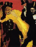 A Theater Corridor with Toulouse-Lautrec