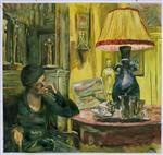 Une dame sous la lampe (Rue de Naples)