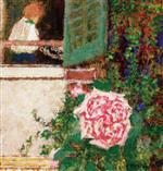 Young Woman at the Window and Flower