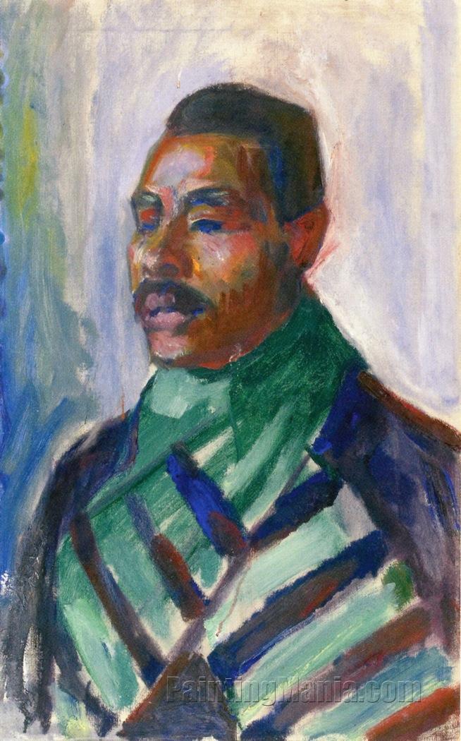 African with Green Scarf (Sultan Abdul Karim)