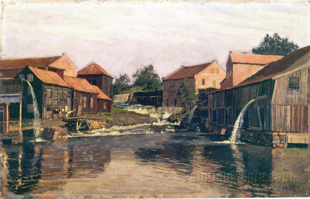 Akerselva by Nedre Foss