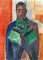 African with Green Scarf (Abdul Karim)