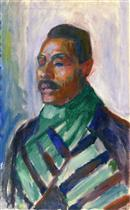 African with Green Scarf (Sultan Abdul Karim)