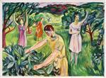 Four Women in the Garden
