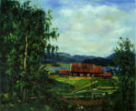 Landscape. Maridalen by Oslo