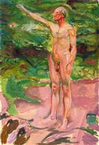 Male Nude in the Woods