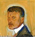 Self-Portrait with Mustache and Starched Collar