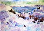 Snow Landscape from Kragero 1912