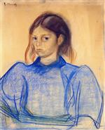 Young Woman in Blue 1891