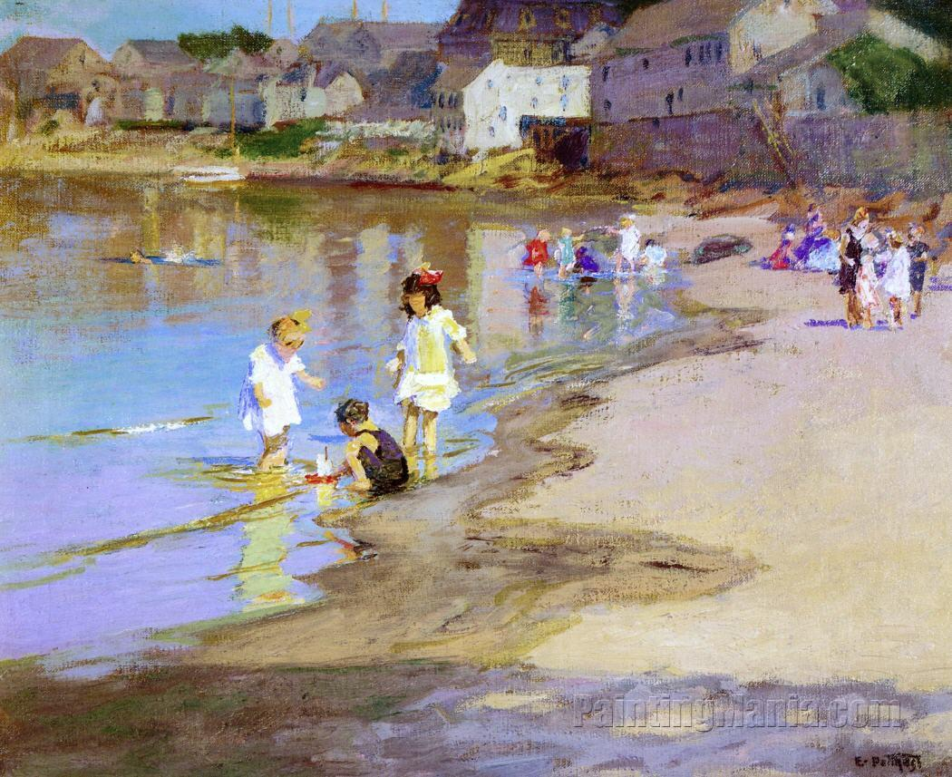 Children Playing at the Beach 2