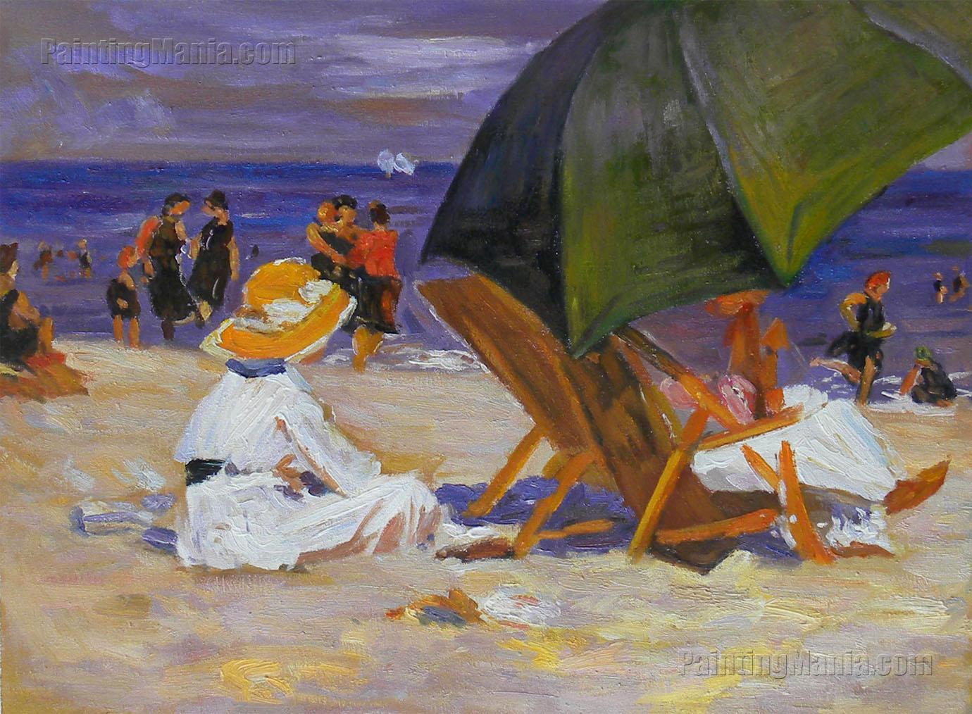 Missoni - Giorgia Zigzag-Print Umbrella, Large, Green - Last Call