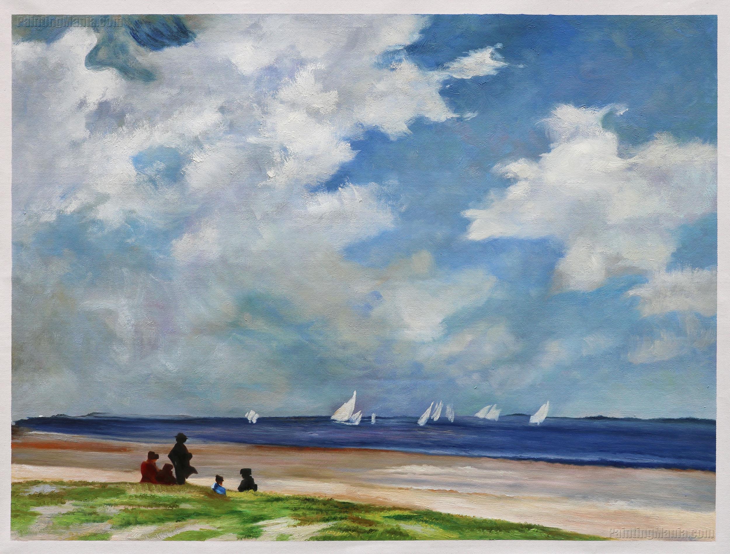 Sailboats off Far Rockaway