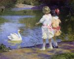 Children with a Swan