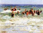 The Swimming Lesson in the Surf