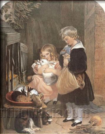 Children and Rabbits