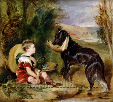 Hours of Innocence: Lord Alexander Russell Son of the 6th Duke of Bedford with His Dog