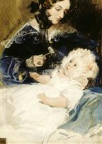 Lady with Her Daughter