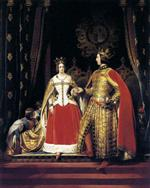 Queen Victoria and Prince Albert at the Bal Costum