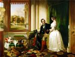 Queen Victoria and Prince Albert at home at Windsor Castle in Berkshire, England