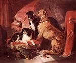 Queen Victoria's Dogs and Parrot
