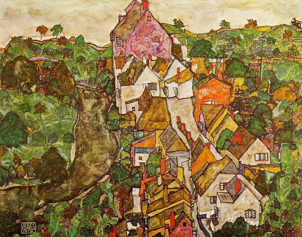 Krumau Landscape 1916