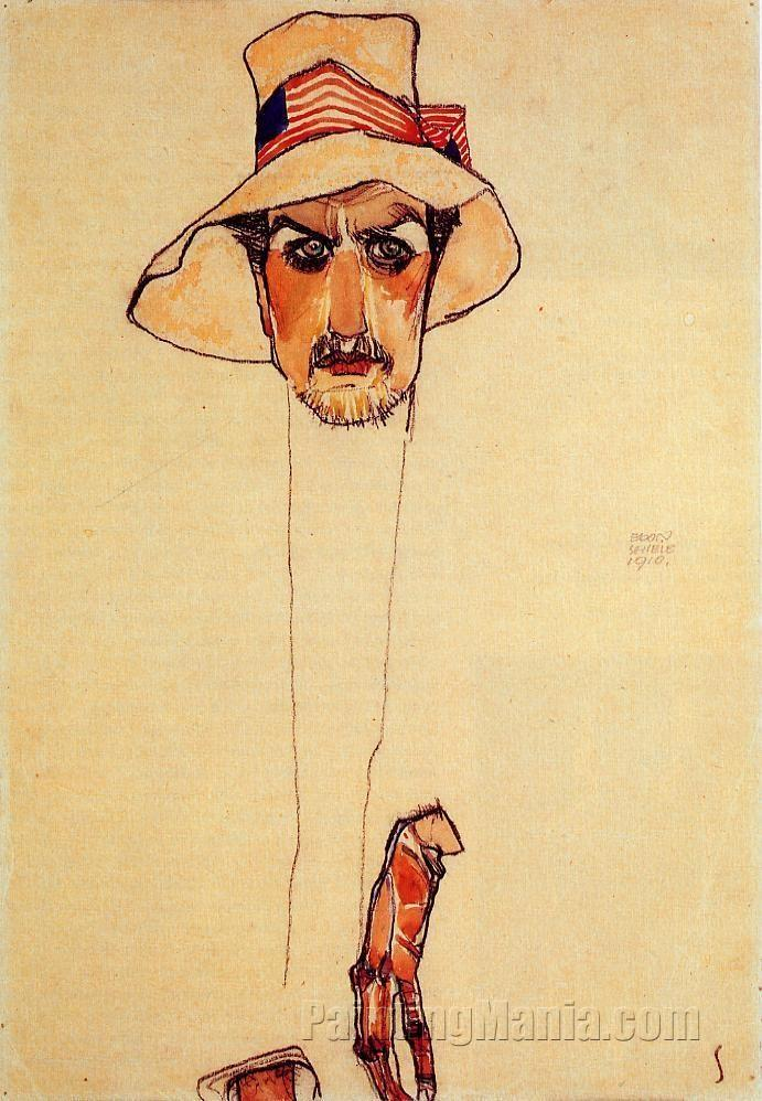 Portrait of a Man with a Floppy Hat