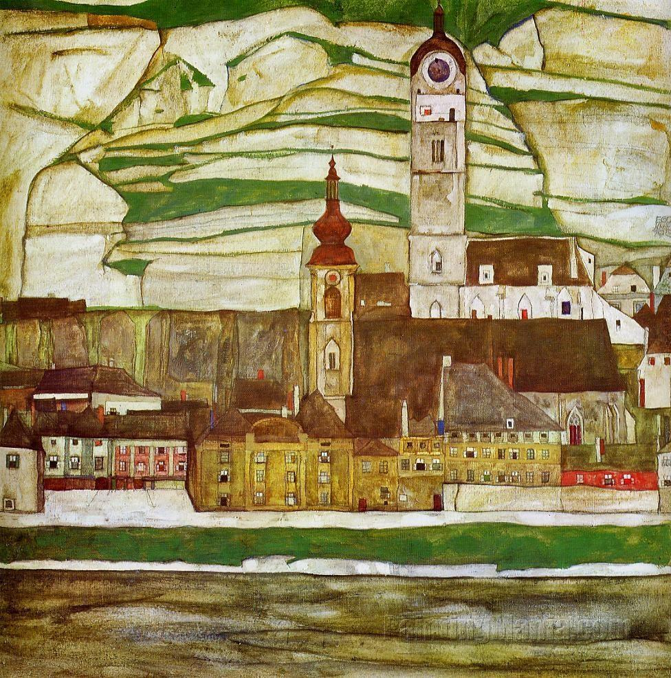 Stein on the Danube with Terraced Vineyards