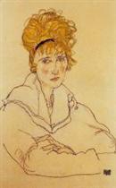 Portrait of Edith Schiele