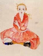 Seated Girl Facing Front