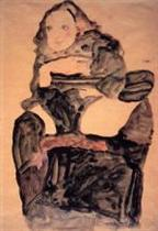 Seated Girl with Raised Left Leg