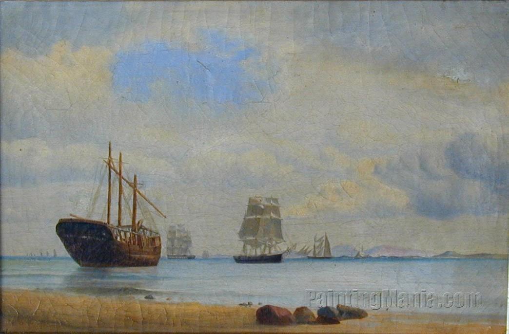 Coastal Scene with Ships