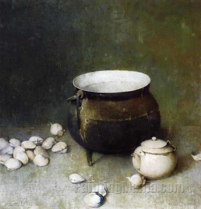 Iron Kettle and Clams
