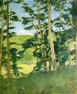 A Clearing beyond the Trees (Green Trees)