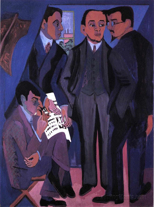 A Group of Artists: Otto Mueller, Kirchner, Heckel, Schmidt-Rottluff