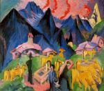 Alpin View. Triptych