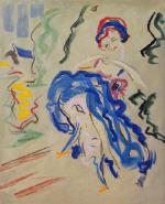 Dancer in a Blue Skirt