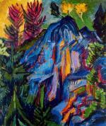 Paesaggio con rupi blue