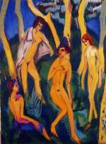 Quattro nudi sotto gli alberi