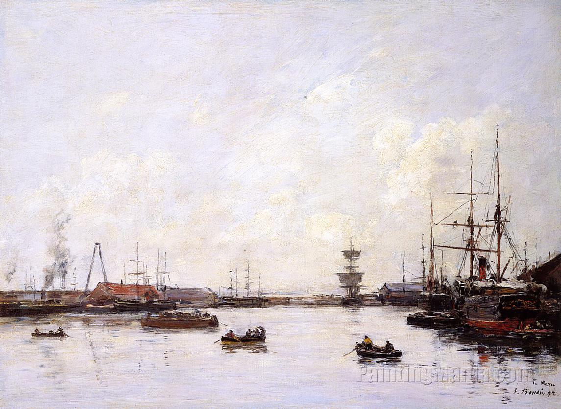 Le havre le bassin de l 39 eure 1892 eugene louis boudin paintings - Bassin pour balcon le havre ...