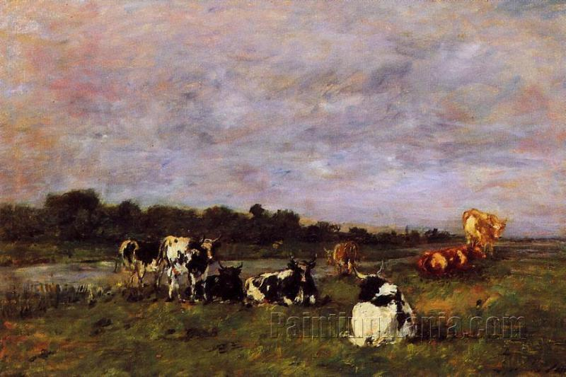 A Pasture on the Banks of the Touques