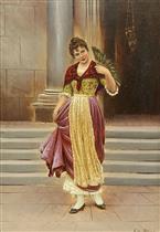 Venetian Beauty Holding a Fan