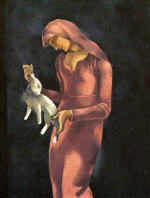 Woman with a Rabbit