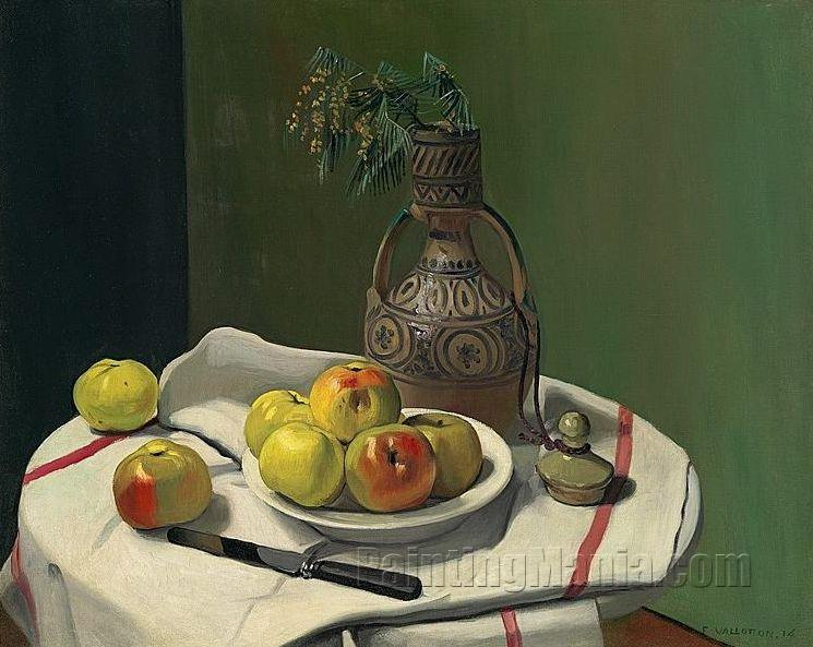 Apples and Moroccan Vase