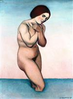 Bather Crossing Her Arms over Her Chest
