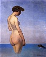 Bather with Dog